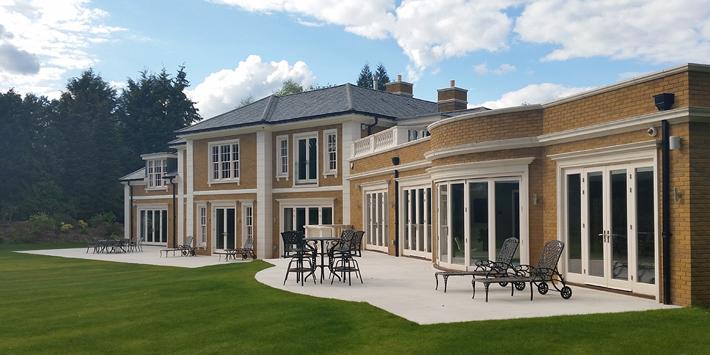 Limestone masonry on a classic style home