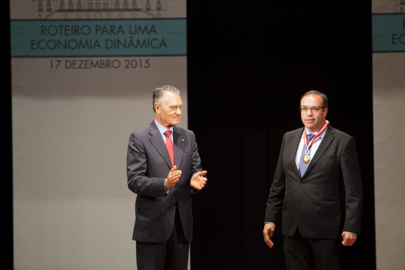 Samuel Delgado foi agraciado com o grau de comendador da Ordem do Mérito Empresarial, Classe do Mérito Industrial