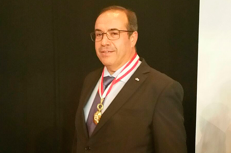 Samuel Delgado was awarded with the degree of Commander of the Order of Business Merit