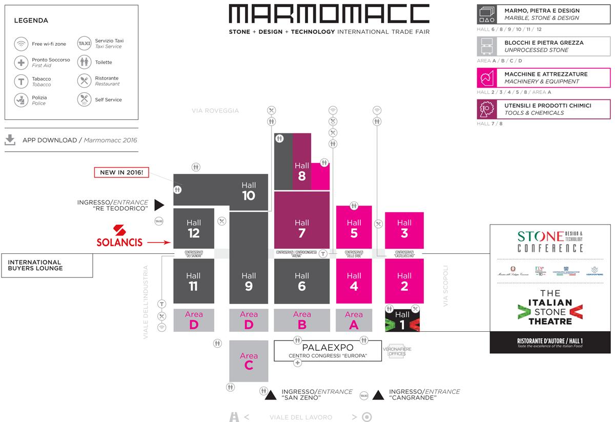 Carte Marmomacc 2016 mapa