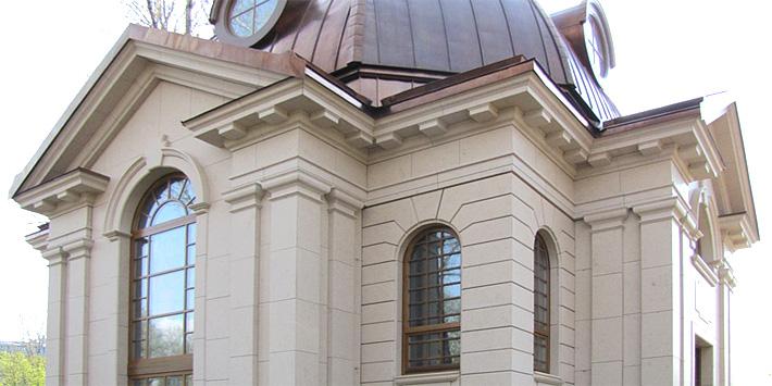 Камень Beige Perola покрывает фасады здания, построенного в Санкт-Петербурге. Посмотреть больше фотографий.