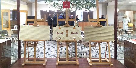 3D панели на выставке в Лейрии